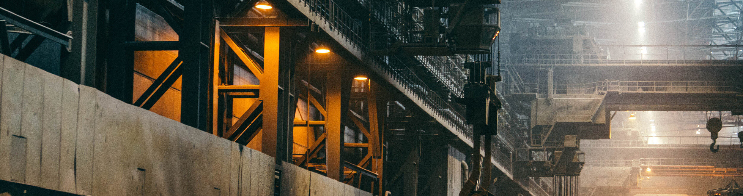 Factory scene showing heavy industry