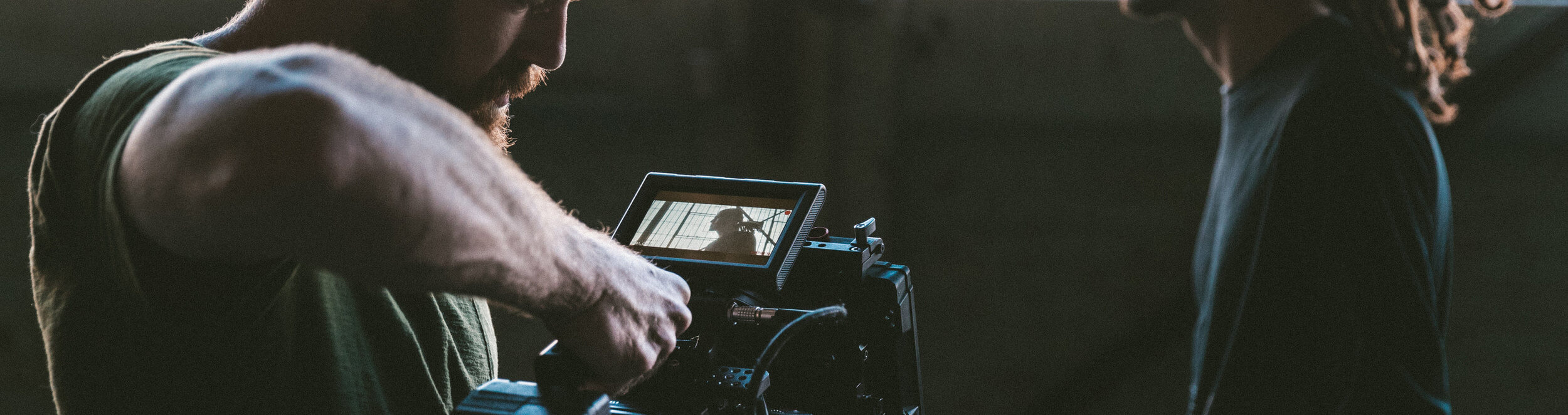 Cameraman shooting scene