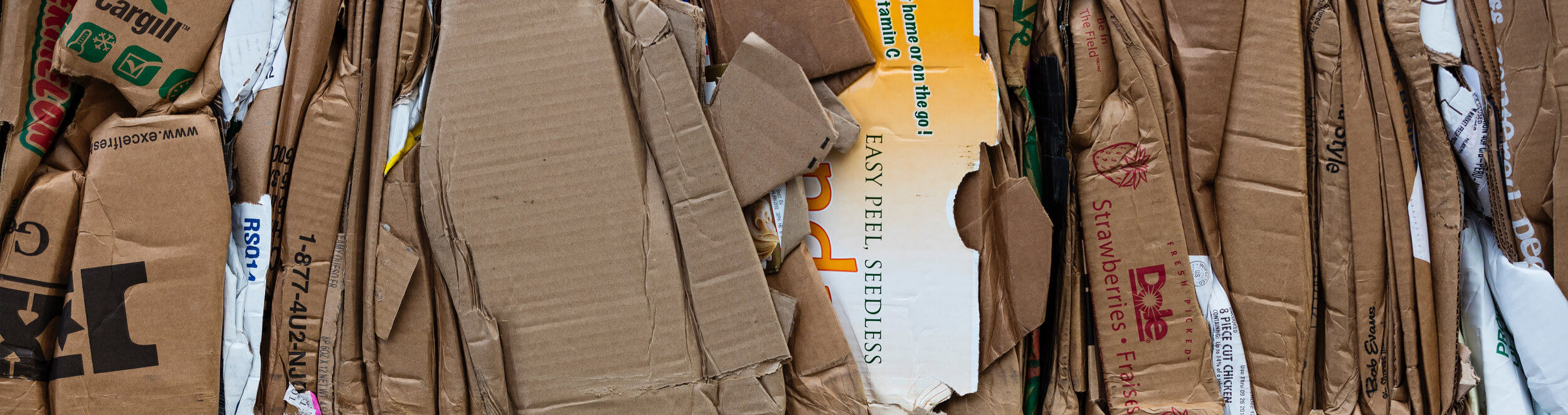 Cardboard bails for recycling