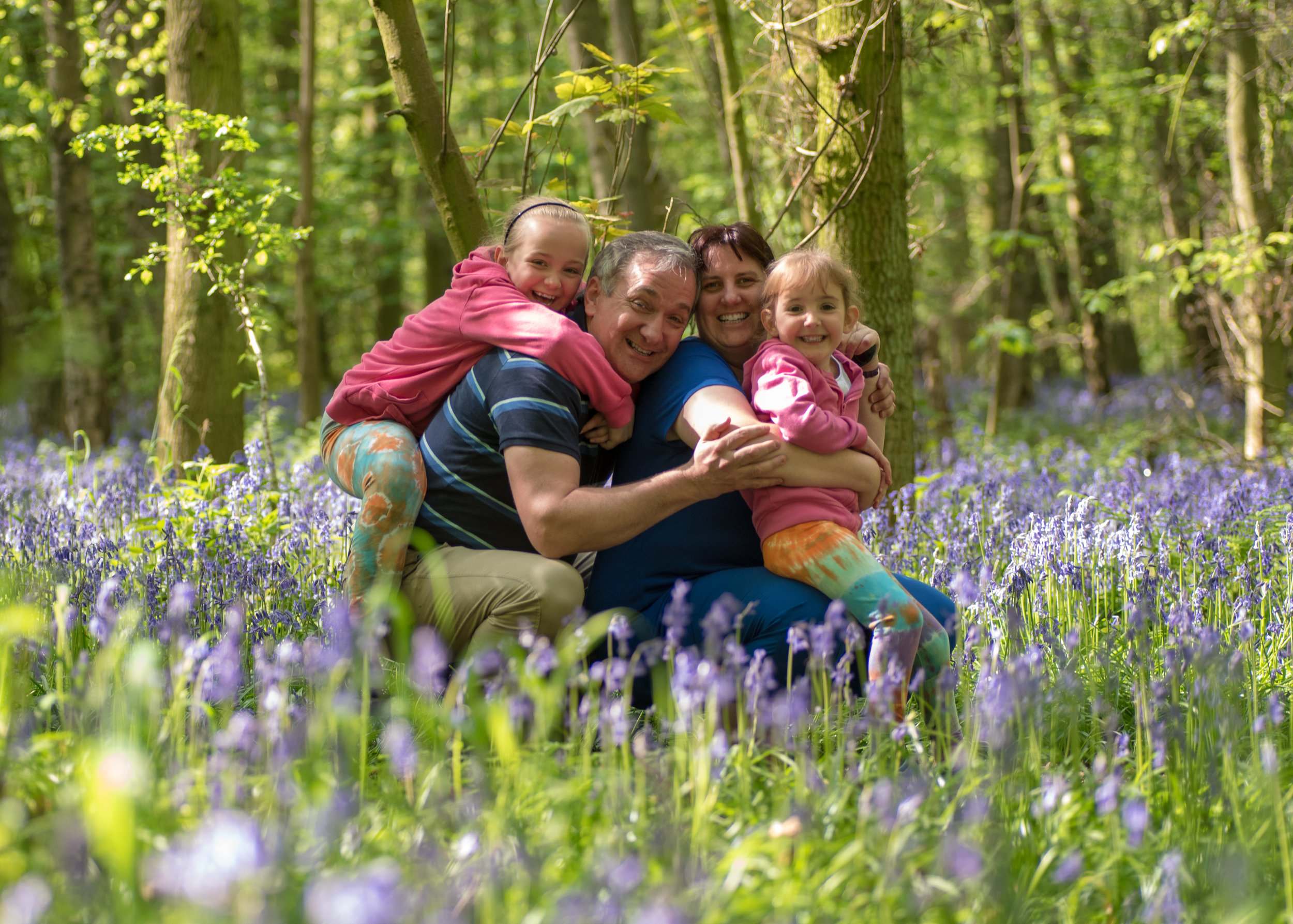We had a great day running around, climbing tree stumps and exploring the beautiful bluebells in Oldmoor Woods, Nottinghamshire