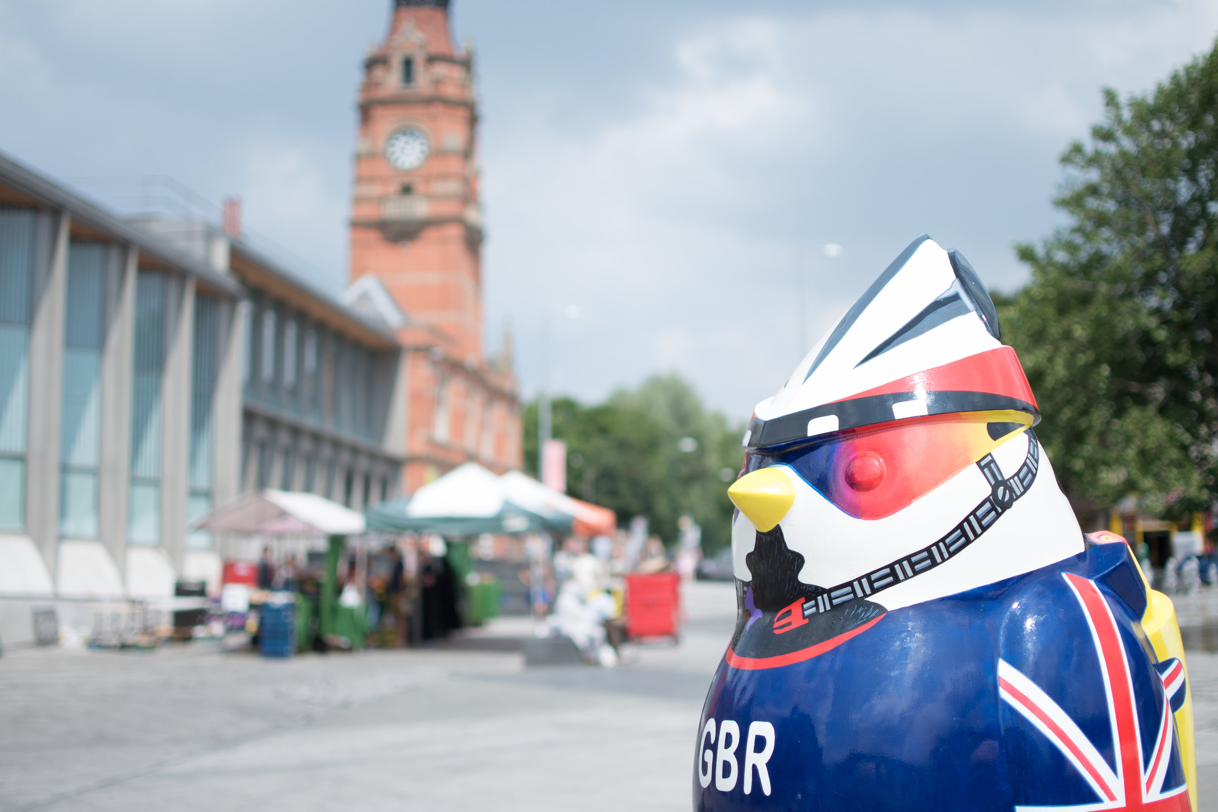 One of the many Hoodwinked statues to be found across Nottingham throughout September
