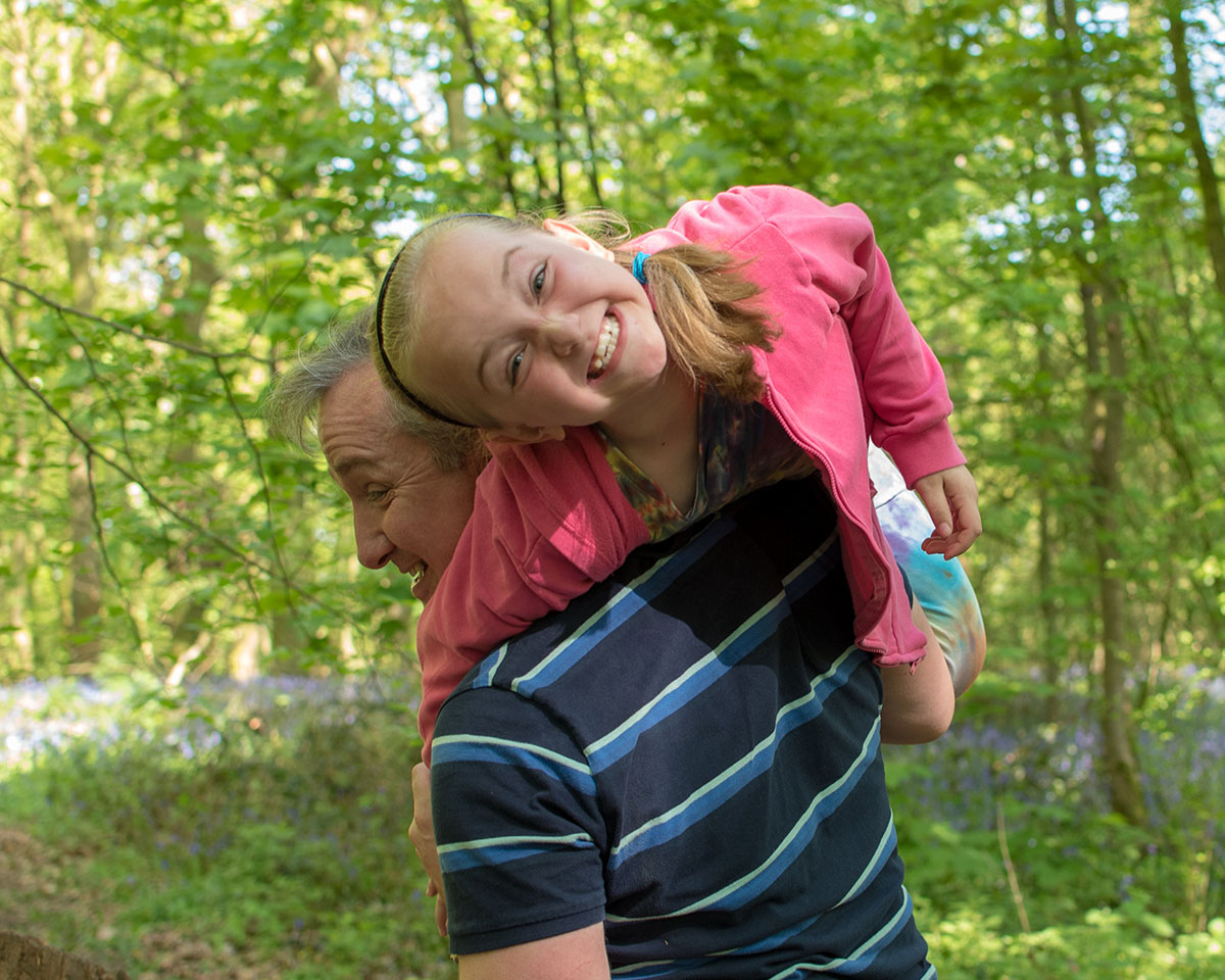 It's not always just the kids who might misbehave! We love it when dads get really into a session and mess about with the kids - it leads to lovely natural shots like this