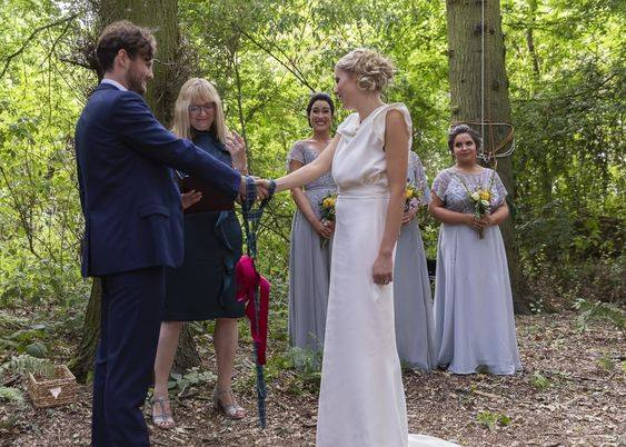 Susan Denton Celebrant conducting a stunning, outdoor, woodland wedding - photography courtesy of Susan Denton Celebrant