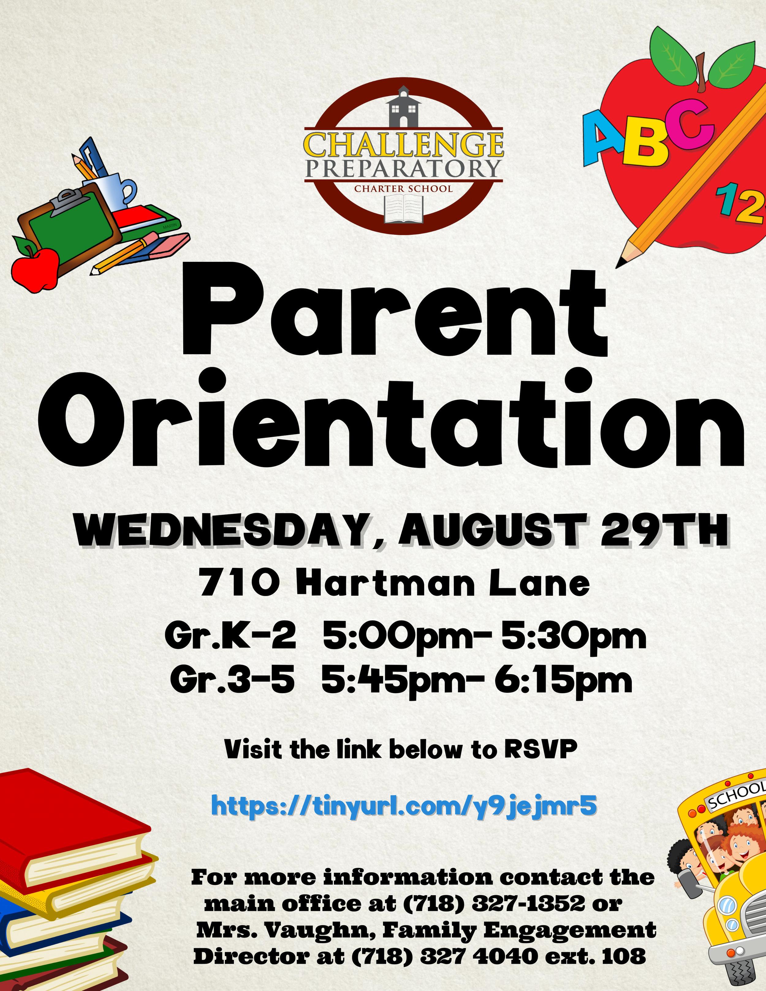 K-5 Parent Orientation