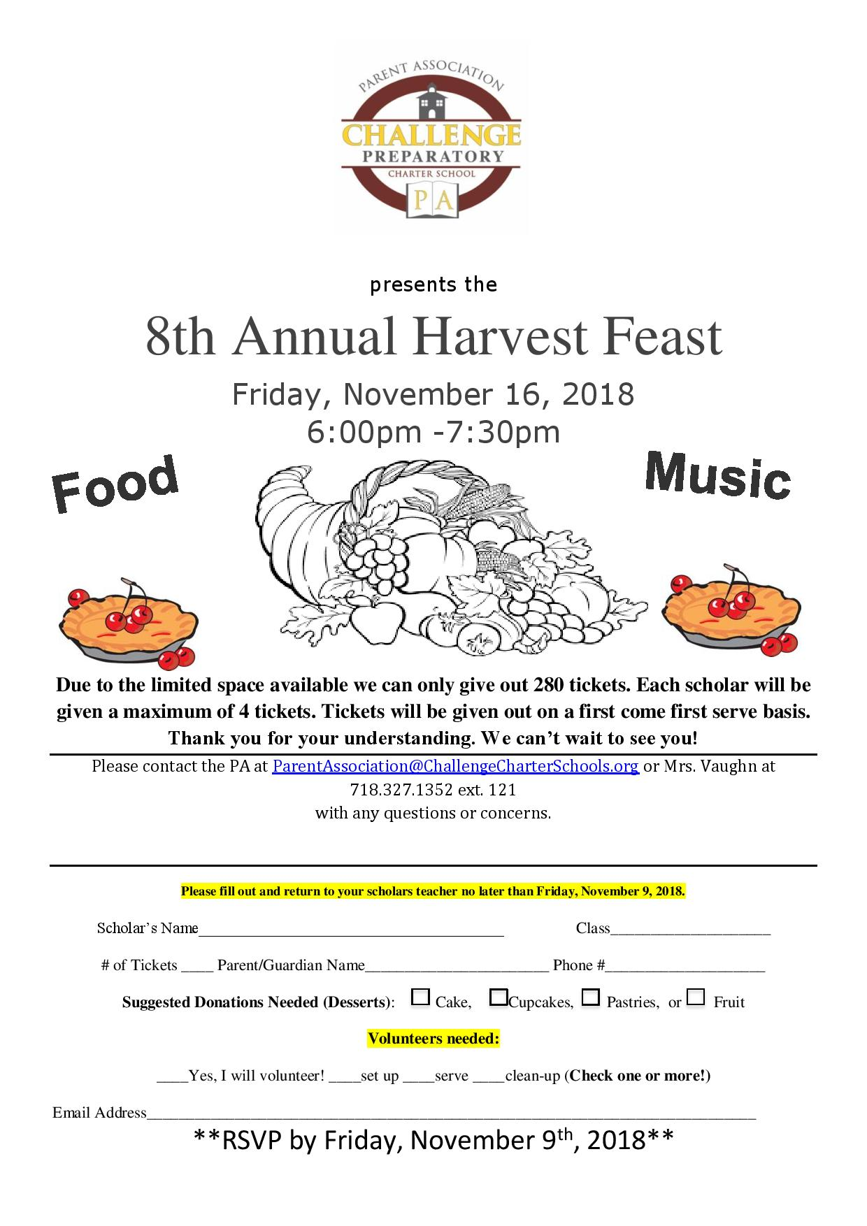Harvest Feast Flyer