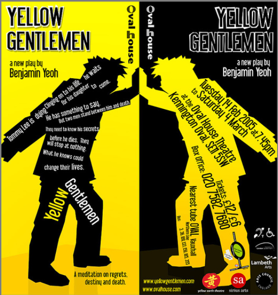 (c) Alex Evans, Flyer Design for 2006 performance of Yellow Gentlemen.