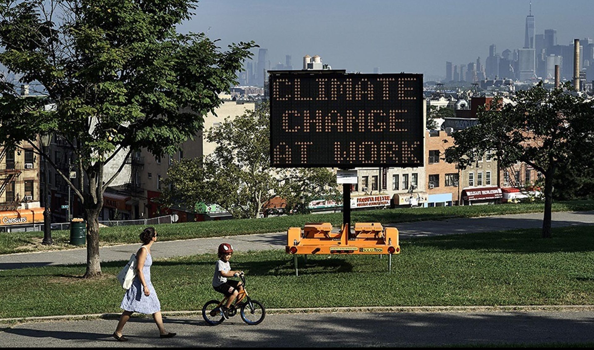 NY, artist Justin Brice Guariglia - Climate Museum; Climate Signals