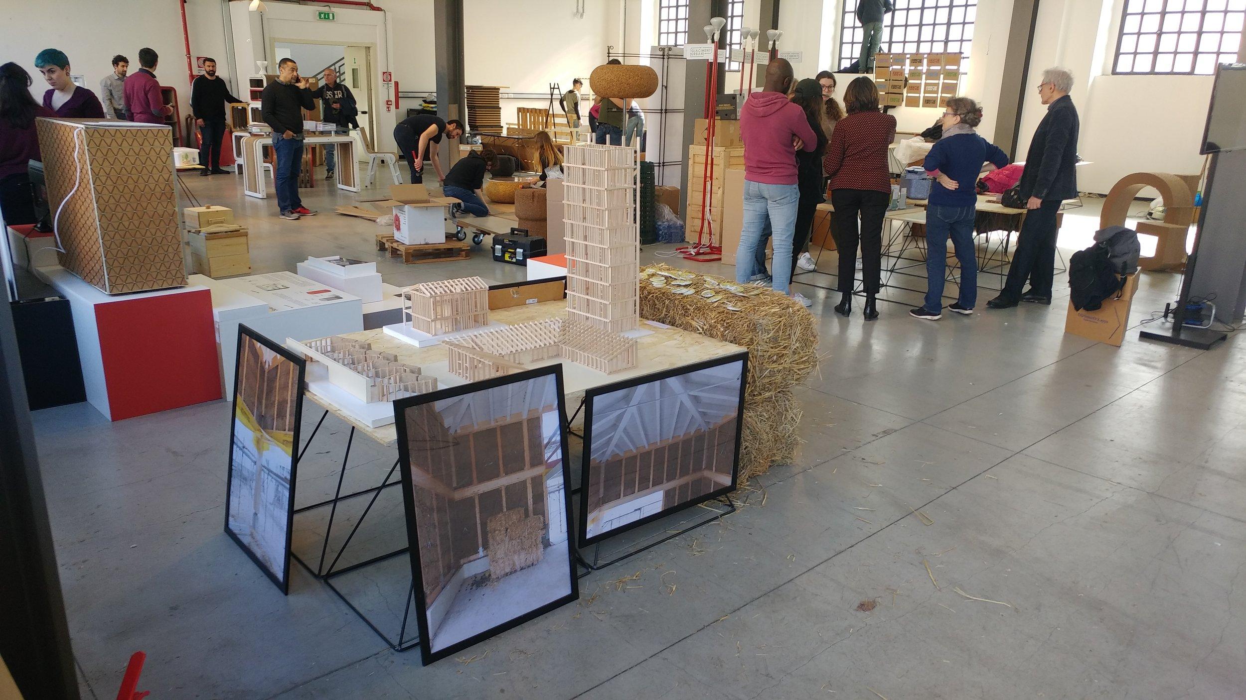 I progetti di Edifici di Paglia Italia esposti alla mostra Design No Brand 2019