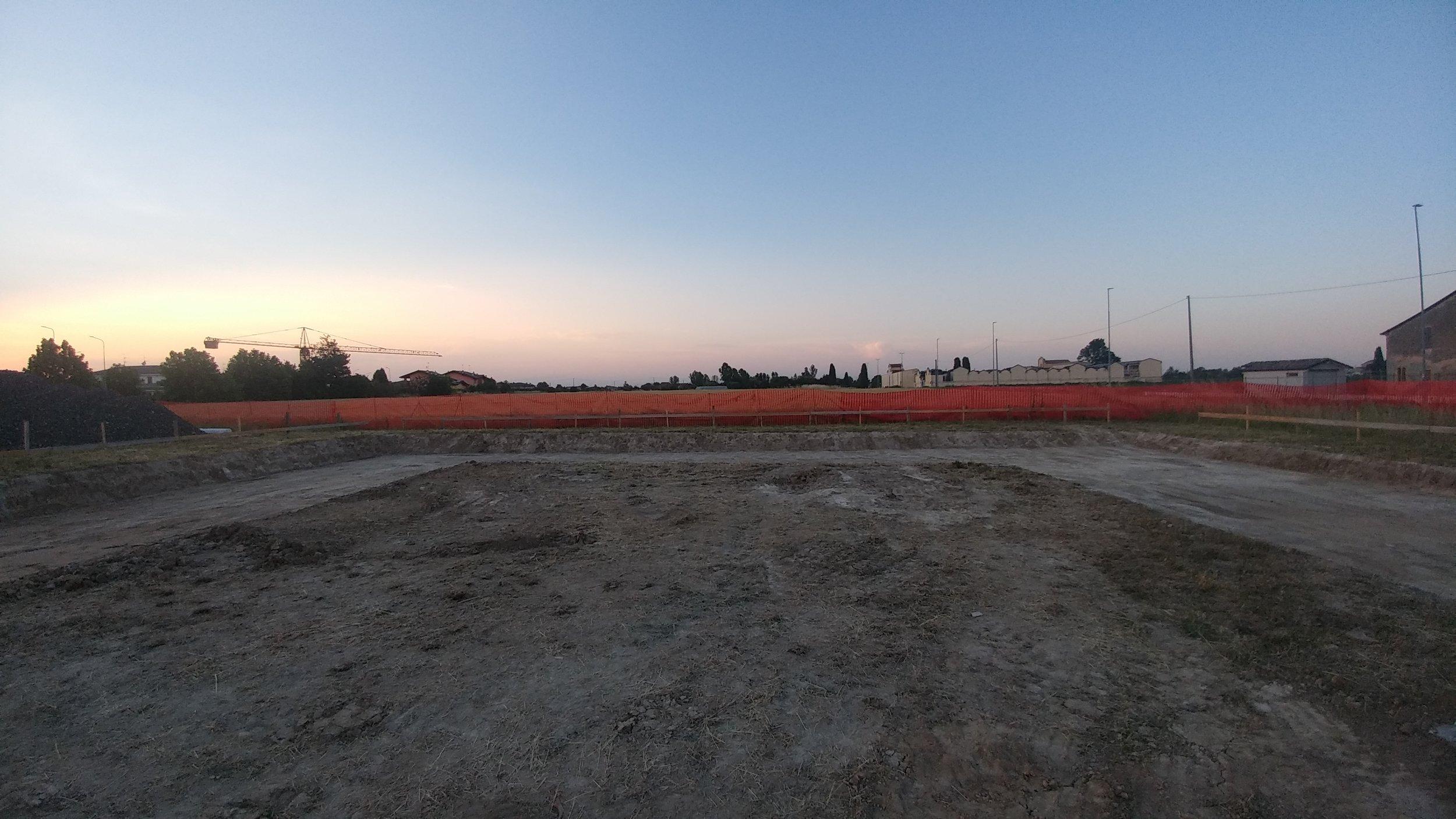 Lo scavo di fondazione terminato