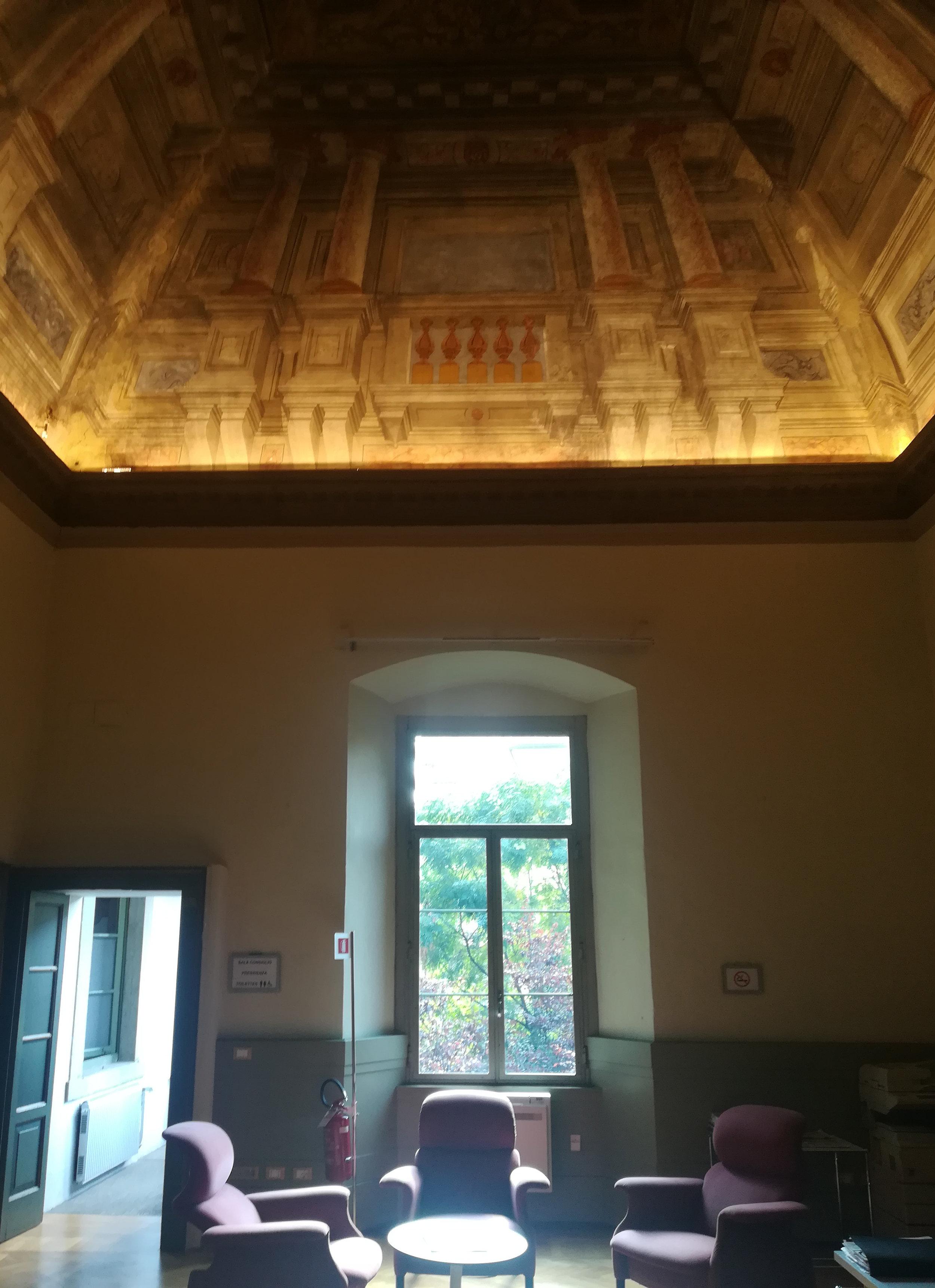 L'ingresso della sede dell'Ordine degli Architetti di Brescia