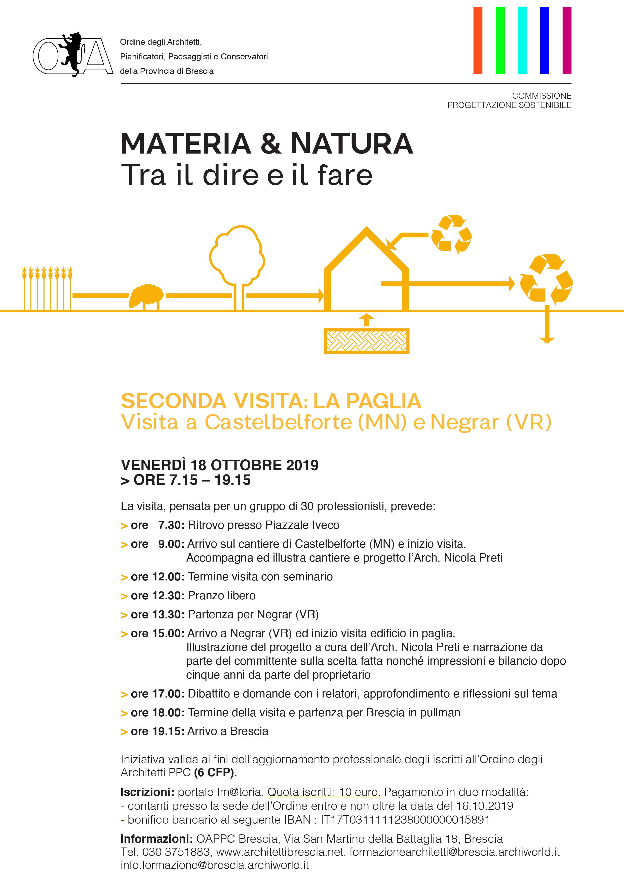 Il programma della visita in cantiere del 18 ottobre