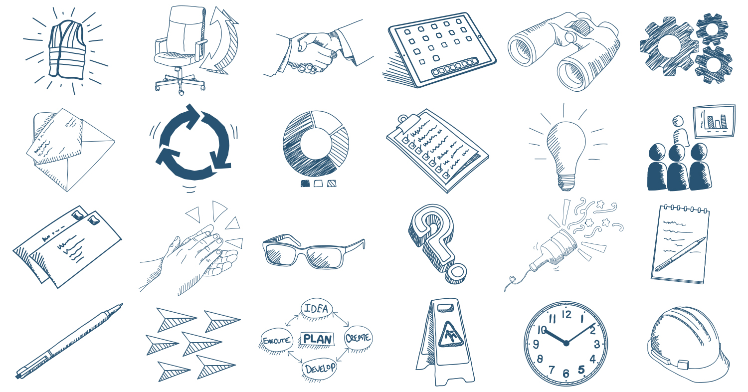 This is part of the 70+ icon set done for  HR Expert's website redesign