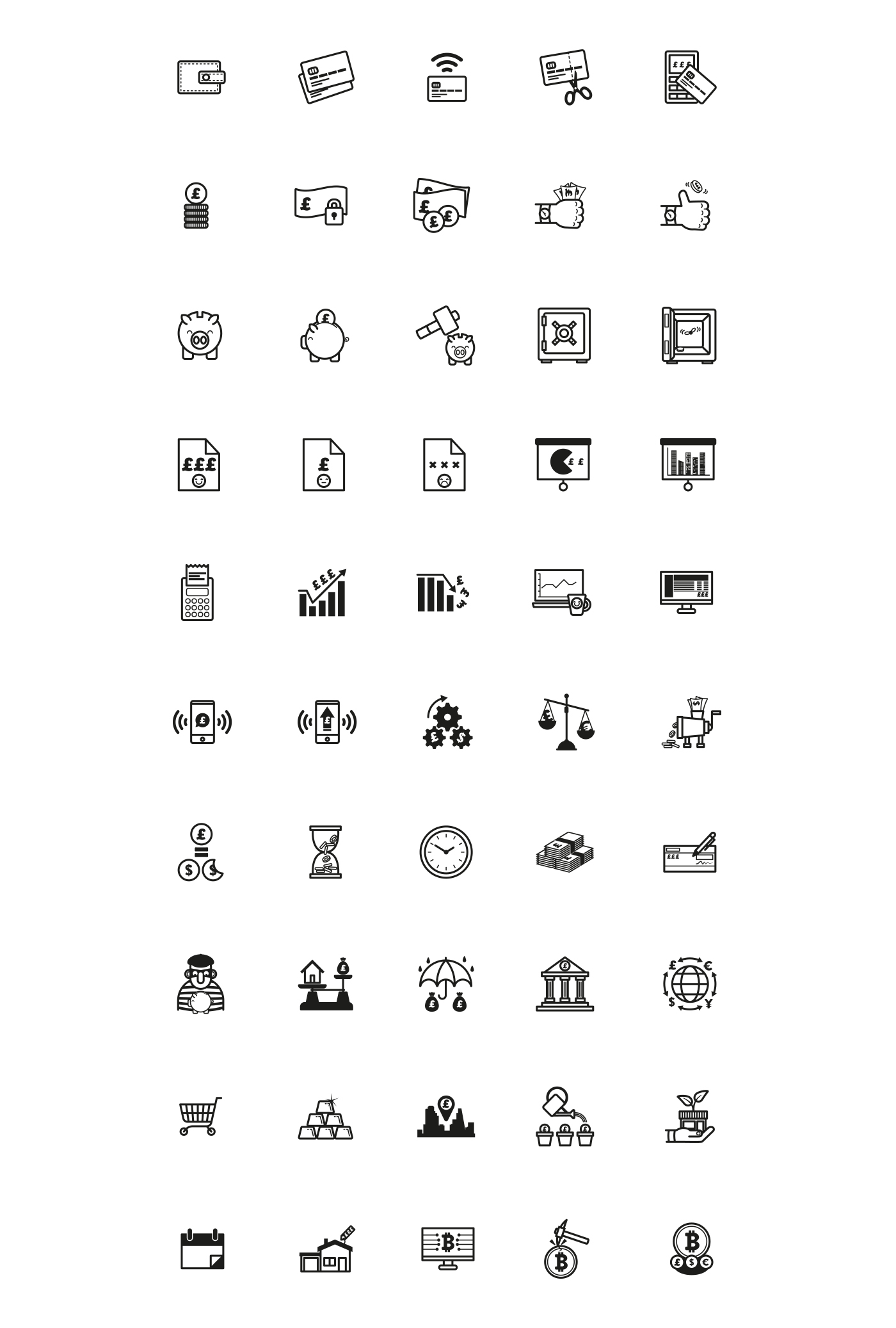 50 Free Vector Financial Icons - A set of icons based around finance and financial concepts. Multiple file formats available (.ai, .eps, .svg, .png). Free for both commercial and personal use.