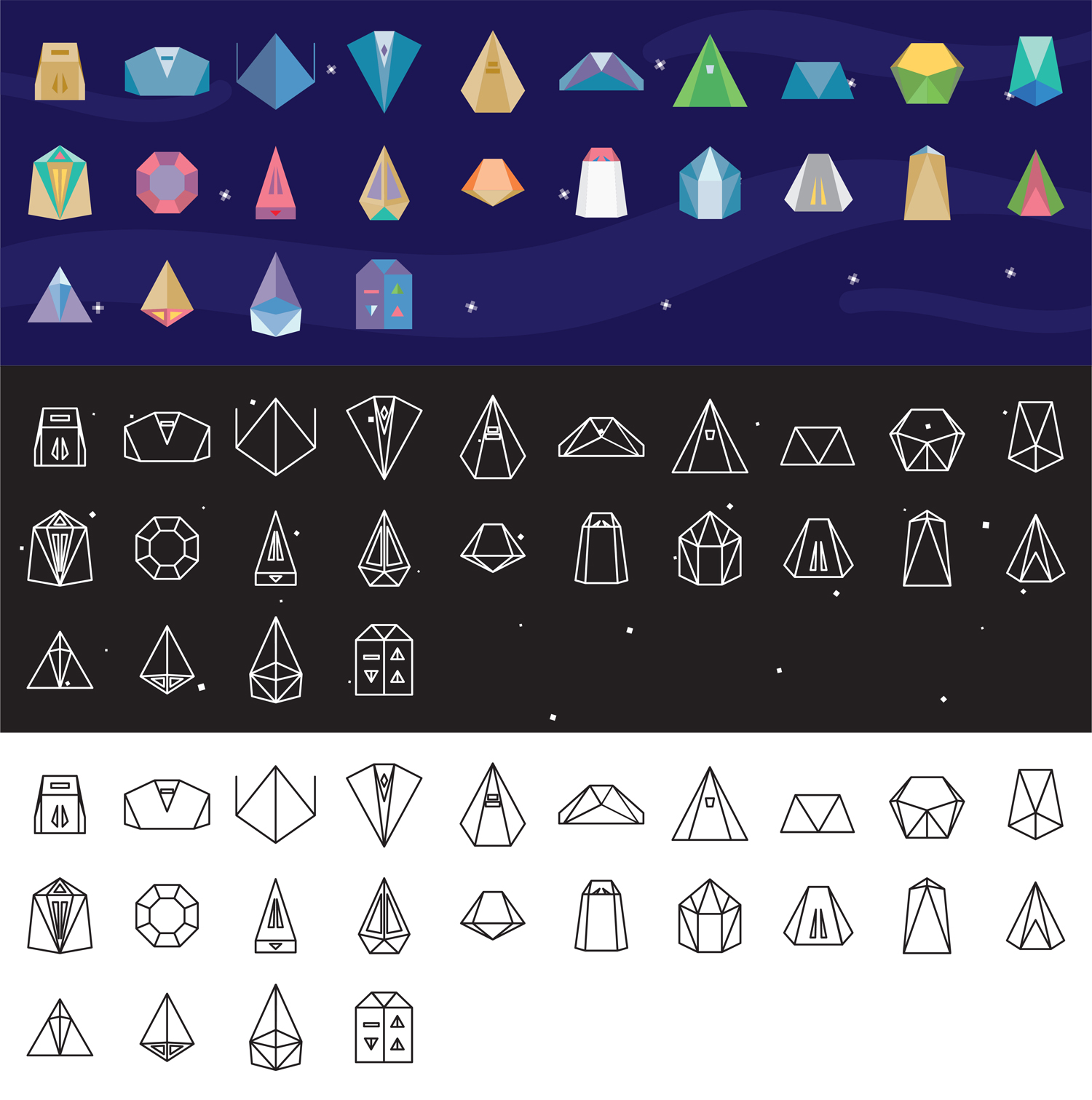 Elite Ships Icon Set - A icon set of the ships from Elite. These are based on the ship data cards that came with the 'ArcElite' version of the game, released in 1991.