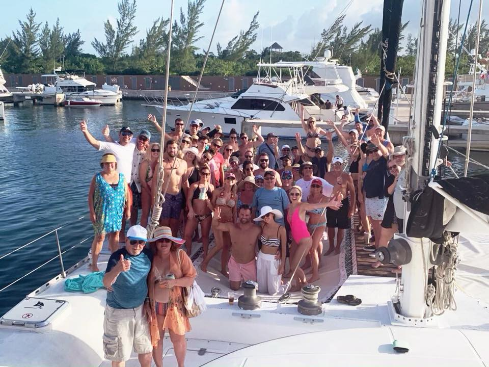 The whole crew after our catamaran day trip - so much fun!