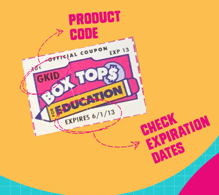 - Look for the PINK Box Tops on products you use every day!
