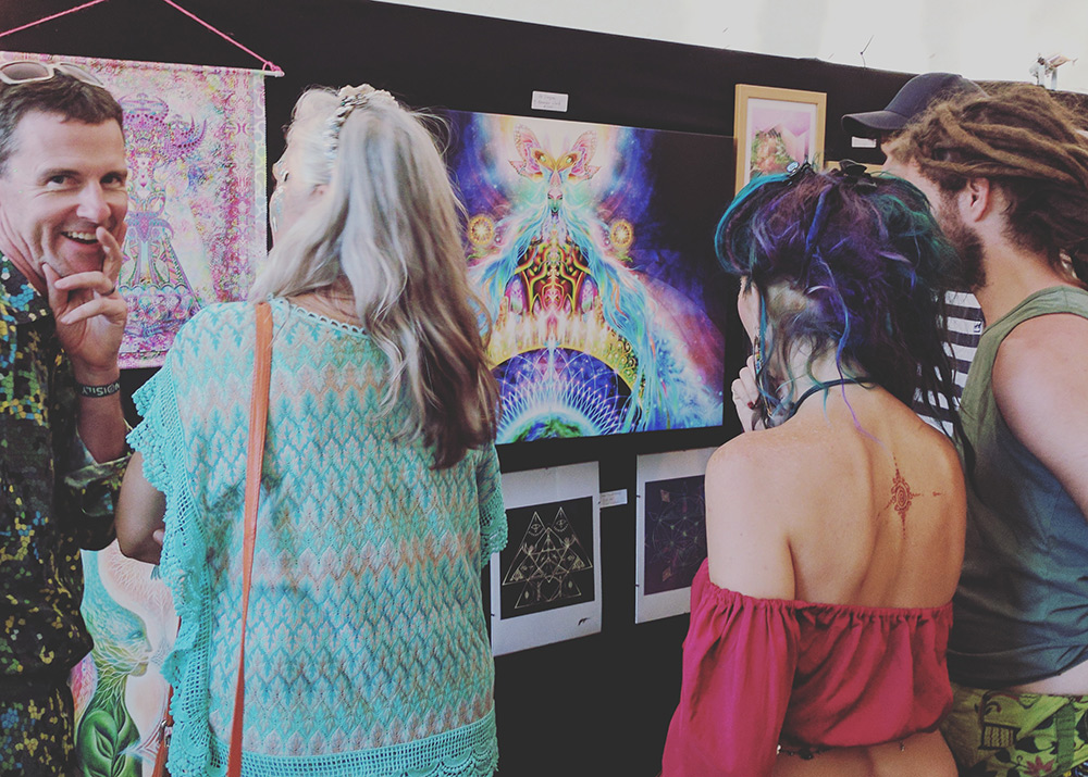 Trippers tripping on my art!