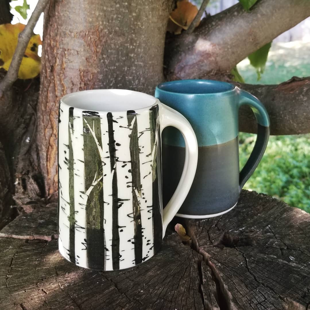 Birch Mug and Dark Turquoise Mug.jpg