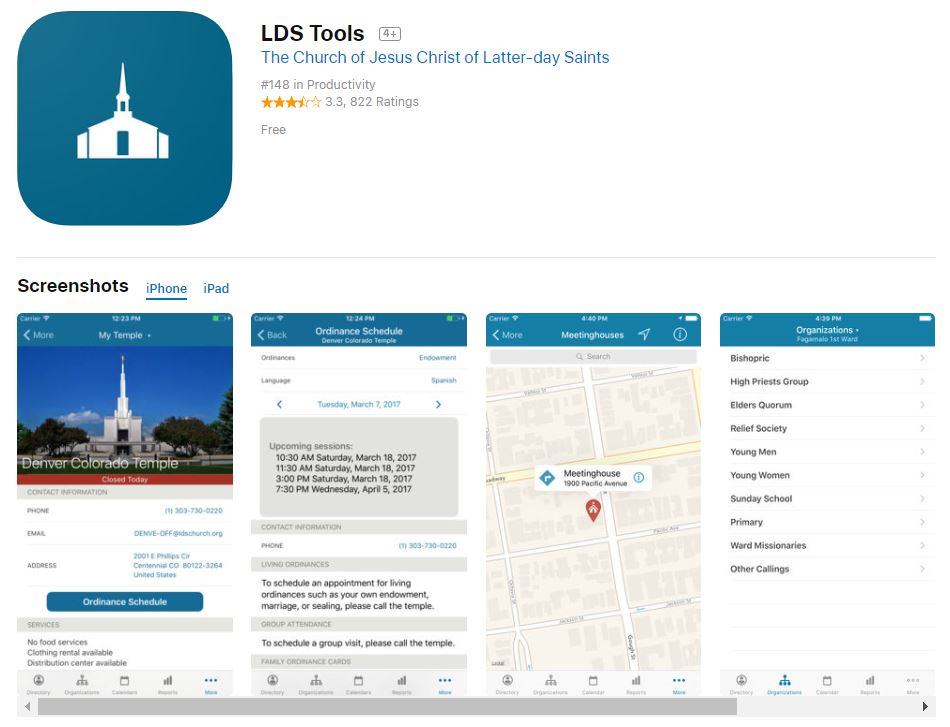 LDS Tools App