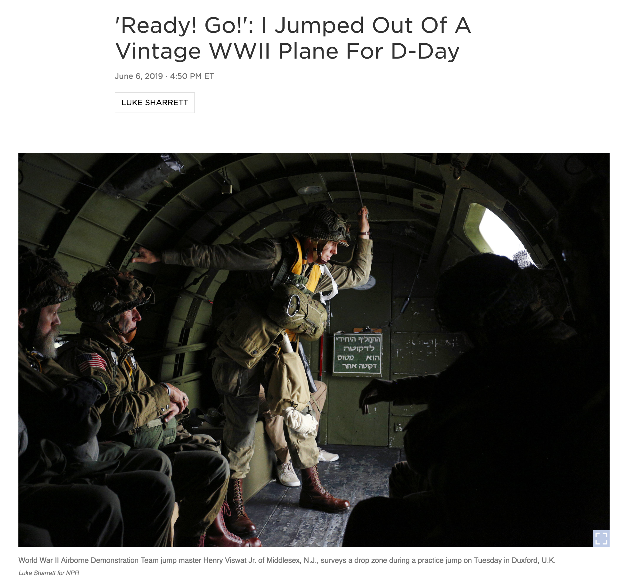 Full story    Photography and story: Luke Sharrett for NPR