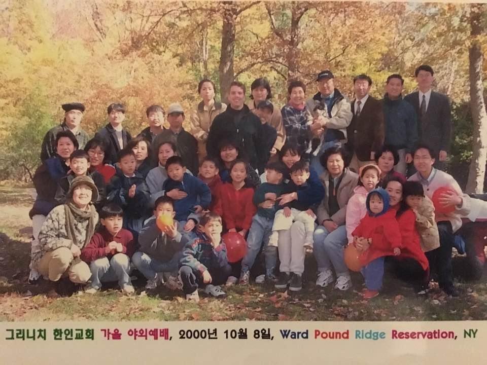 야외 예배 10/8/2000 (김선아 집사님 제공)