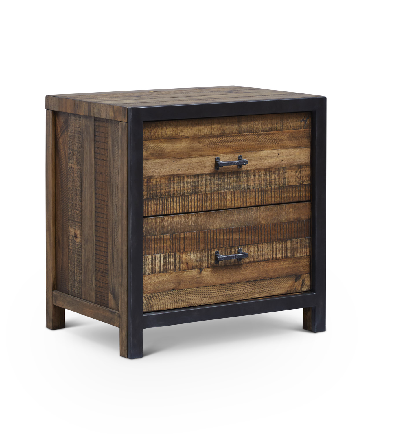 "Urban Frontier 2 Drawer Night Stand  Item # DI-188103 Dimensions: 26""W x 19""D x 26.75""H"