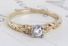 A lovely 1940's diamond ring. An engagement ring, maybe??