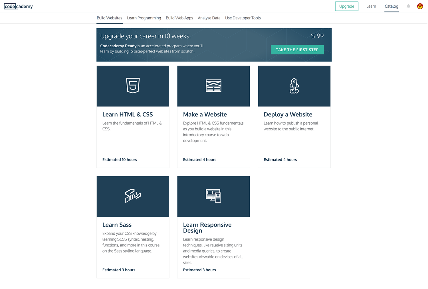 Codecademy courses - learn to code for graphic designers