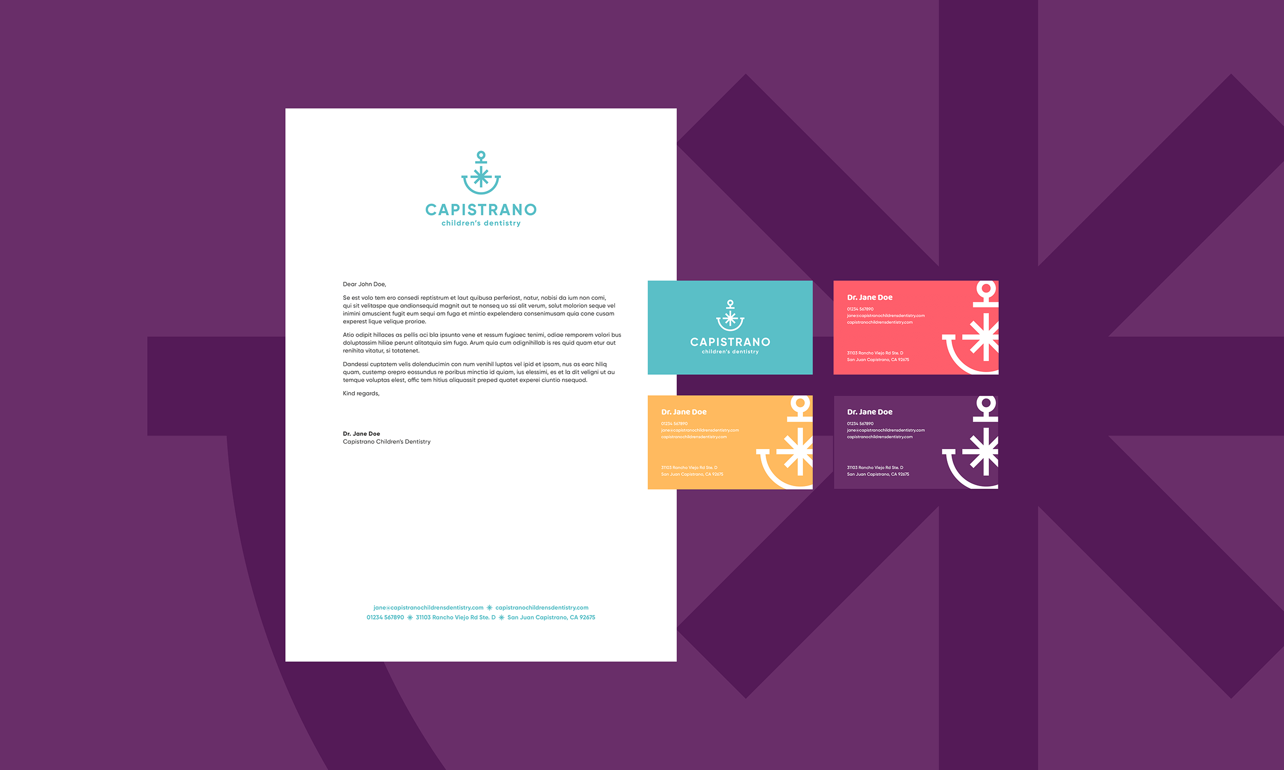 Capistrano-Childrens-Dentistry-Logo-Design-Freelance-Graphic-Designer-Margate-Kent-Presentation-Pediatric-Dental-Business-Cards