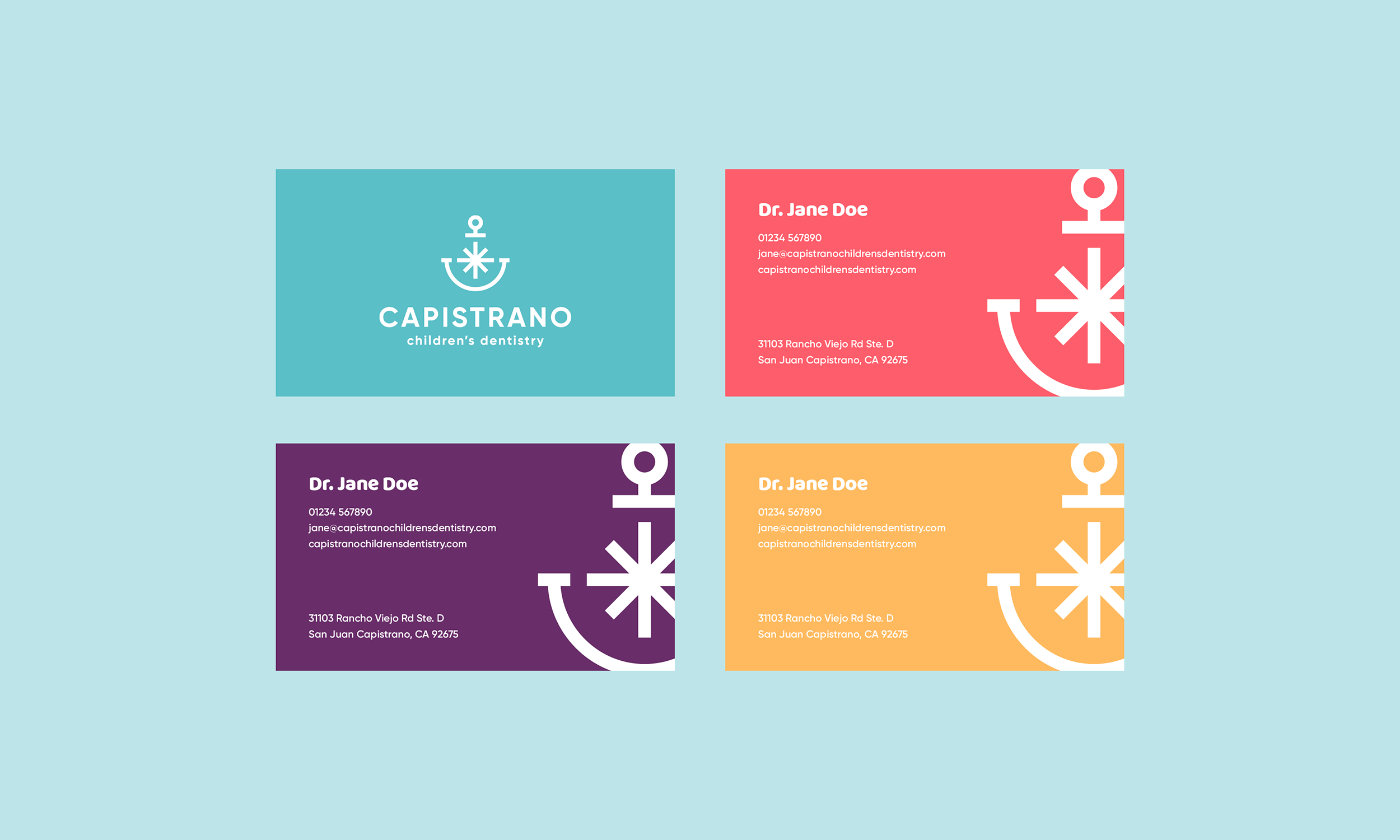 Capistrano-Childrens-Dentistry-Logo-Design-Freelance-Graphic-Designer-Margate-Kent-Presentation-Pediatric-Dental-Business-Card