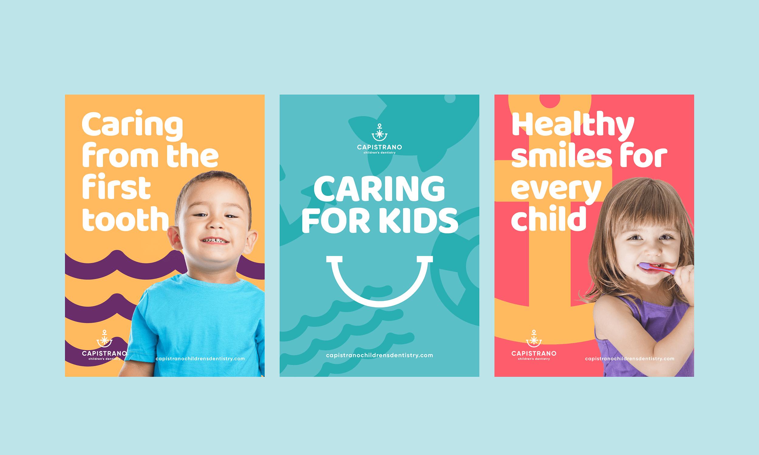 Capistrano-Childrens-Dentistry-Logo-Design-Freelance-Graphic-Designer-Margate-Kent-Presentation-Pediatric-Dental-Posters