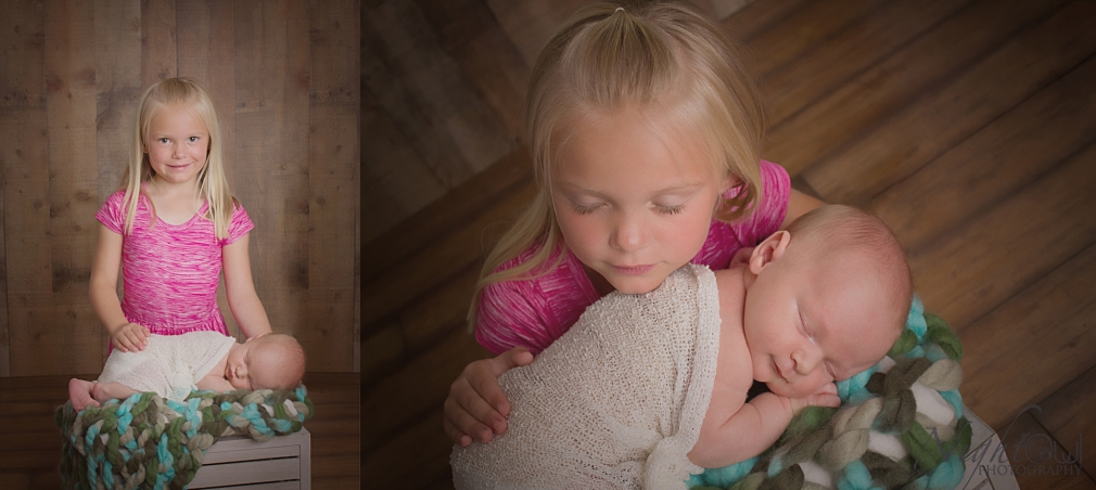 Seriously, these are some of my favorite images of a newborn with his beautiful big sister!