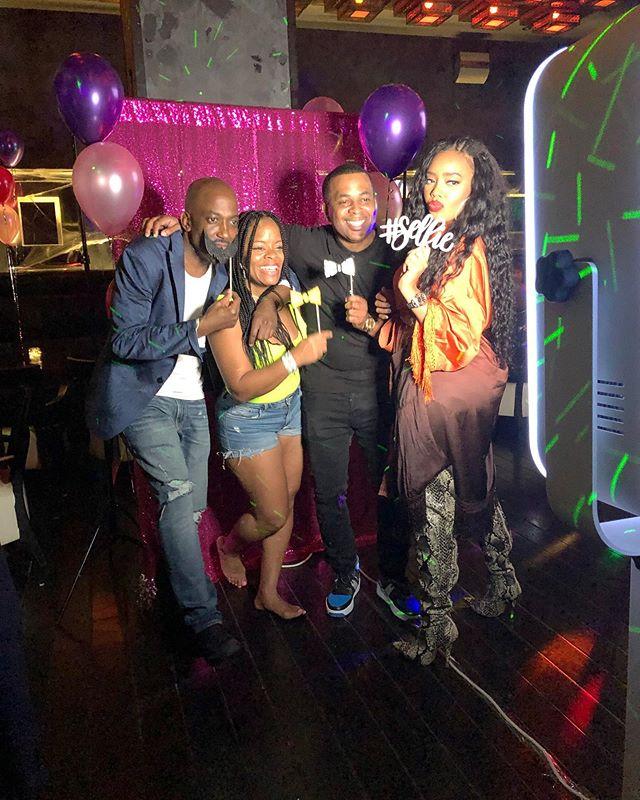 So happy that The Buddy Booth could help celebrate a very special birthday last night! Happy Happy Birthday to Trina! @krjnyc 🥳💋🎉 #trinasfabandforty #birthday #photobooth
