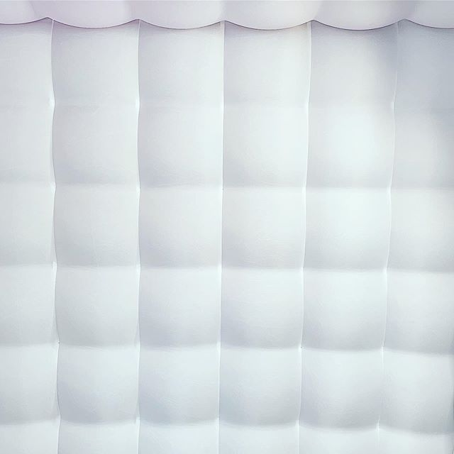 Gold & Silver Backdrops are nice, we love the inflatable white Backdrop!