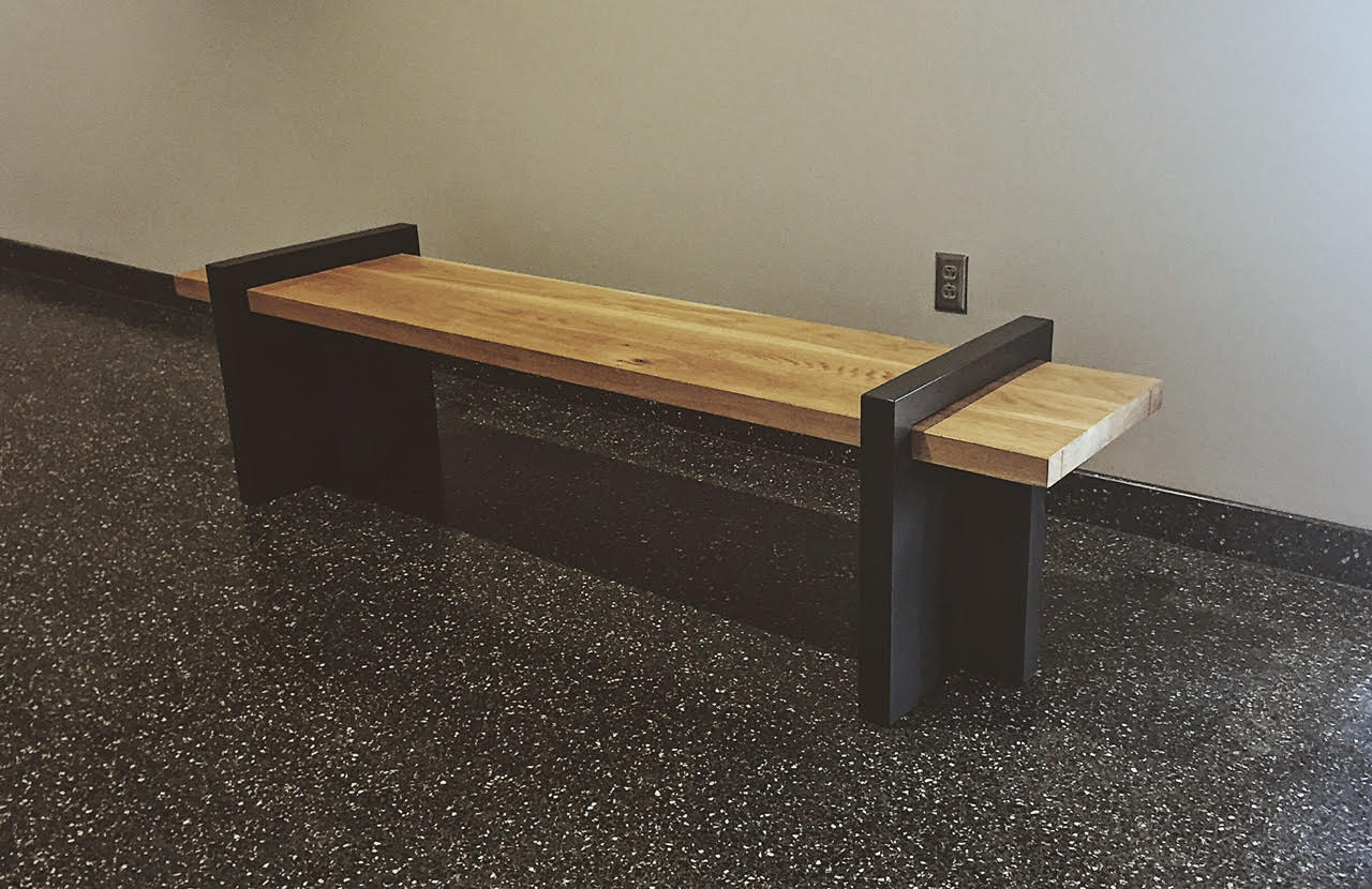 University of Missouri - We recently partnered with the University of Missouri, also known as Mizzou, to create benches for their medical research department and engineering department, as well as a table for the women's volleyball room. The furniture needed to be functional and fit the modern aesthetic of the space.The end result was these industrial benches and this table that feature clean lines and sturdy iron.