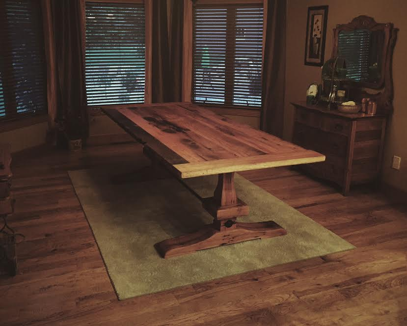 reclaimed wood table bolivar mo