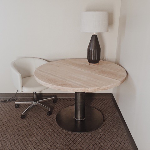 James River Assembly - By partnering with Touché Design Group, we created this table located at James River Assembly's North Campus. We believe that partnering with interior designers allows us to create furniture that compliments fits the needs of any space.