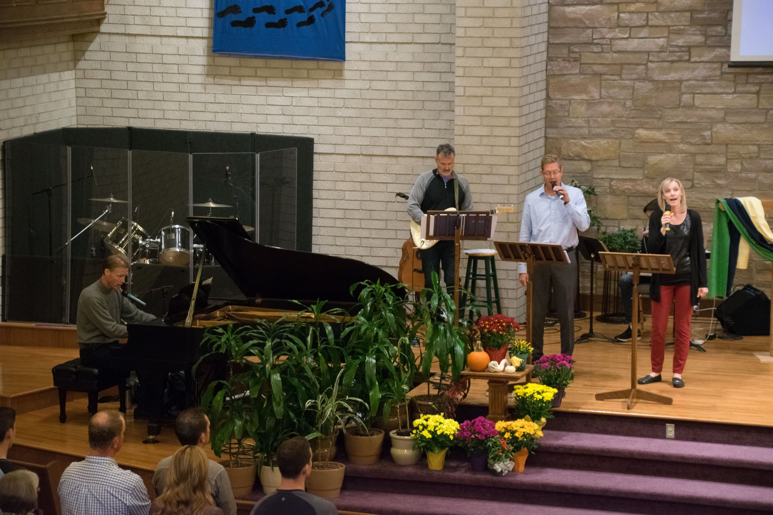 Music - Praise teams lead the congregation in worship. Teams are made up of various instruments and singers. If you would like to share your musical talents contact our music coordinator: Will Lammers