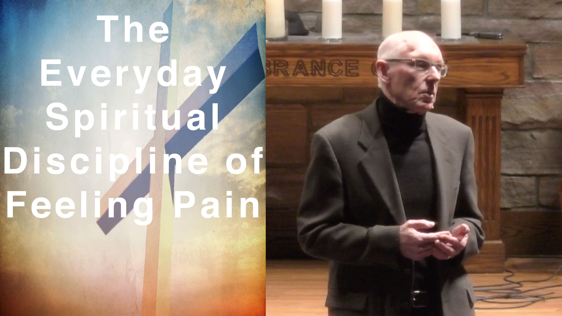 The Everyday Spiritual Discipline of Feeling Pain - Pastor Fred April 19 2019Good Friday