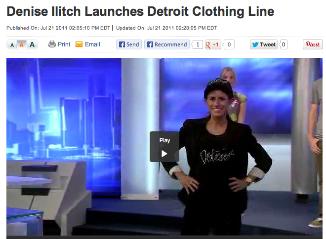 Television Segment for Channel 4 Detroit - Modeled for Denise Ilitch's clothing launch on the local news