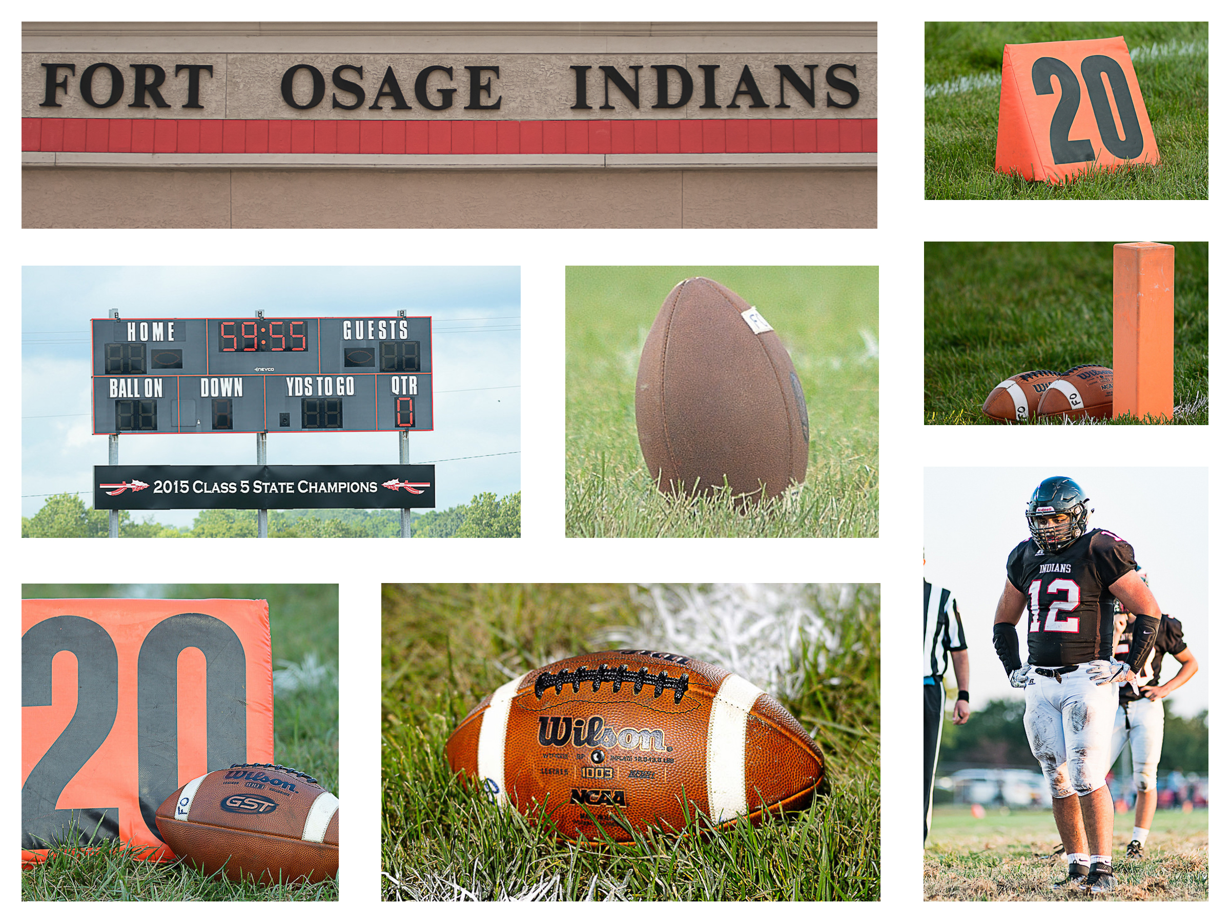"Last year, voters in the Fort Osage district approved a bond for improvements to the district facilities. One of the improvements will be a new football/soccer/track stadium. It will include a new 8 lane track, new bleachers and press box, and new field turf. Fort Osage is the last school in the area that played on grass. It was a unique feature, and not being able to see a game on real grass will be missed. This stadium complex, and grass field have been part of the high school since the beginning. The images above are here in remembrance, and so we can show the kids of the future, that ""Yes, Virginia, football did use to be played on grass."""