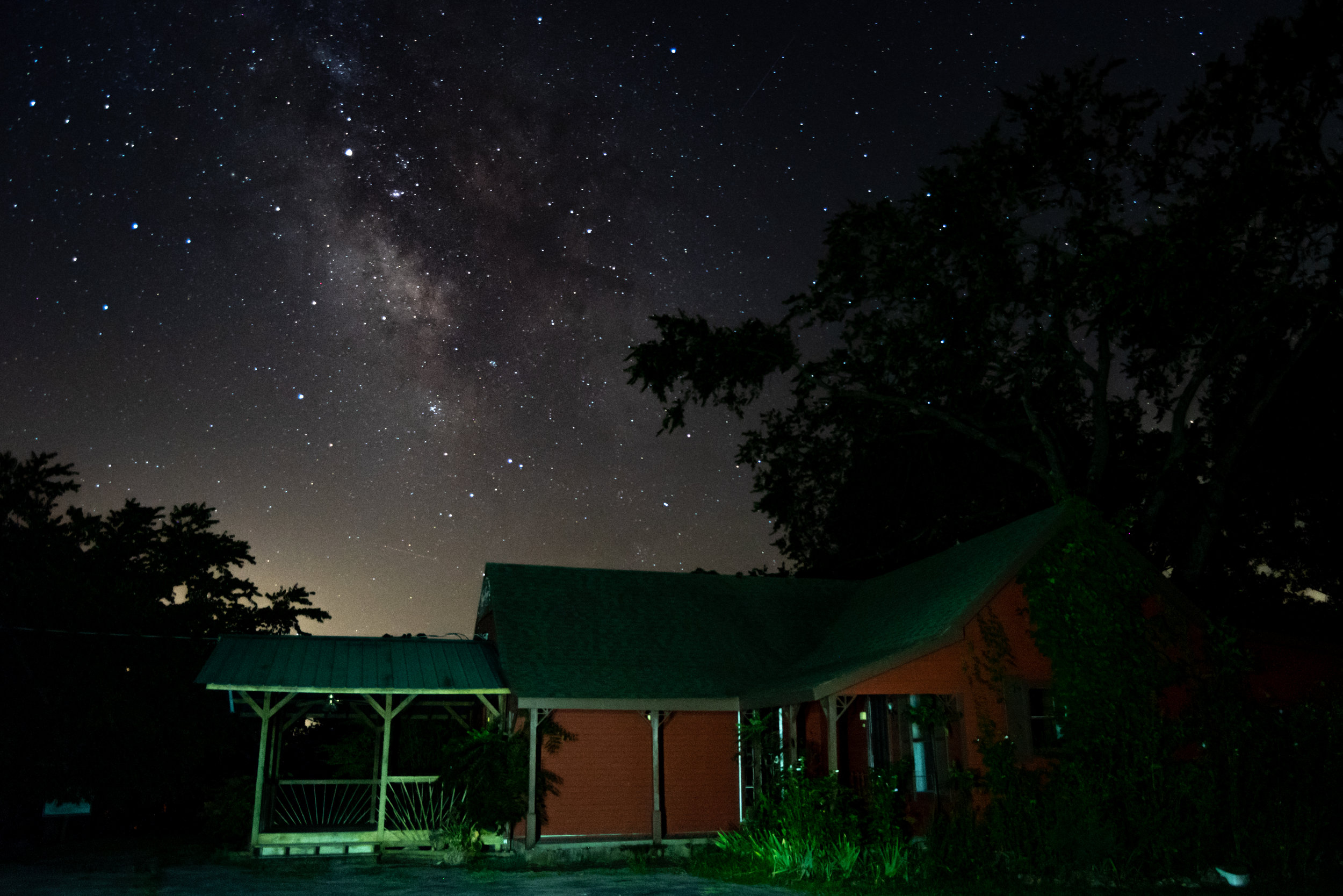 The Kings River Golf Course is closed, but this used to be the club house. It was fun finding an interesting foreground subject for one of my Milky Way shots.