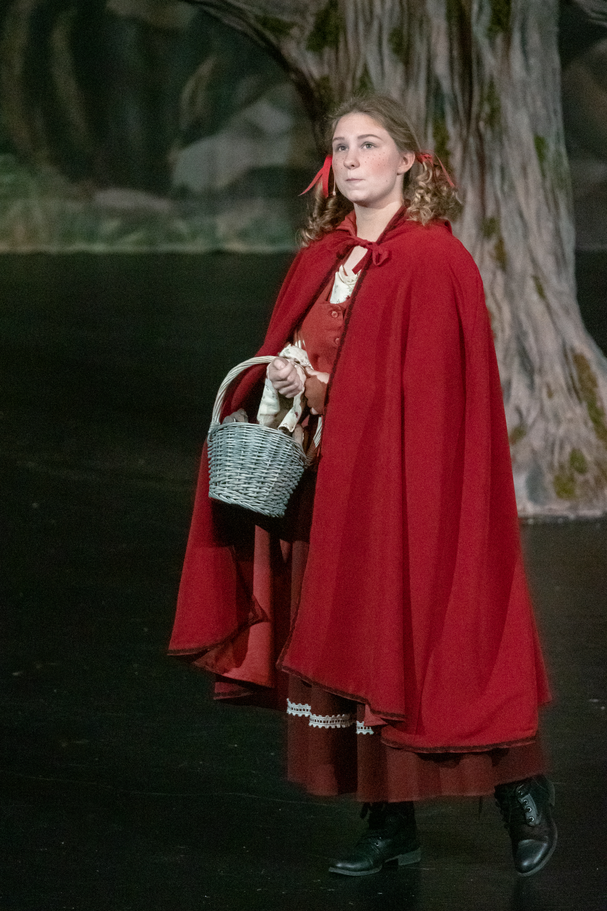 """Little Red Riding Hood: """" I have no fear... Nor no one should... The woods are just trees...  The trees are just wood..."""""""