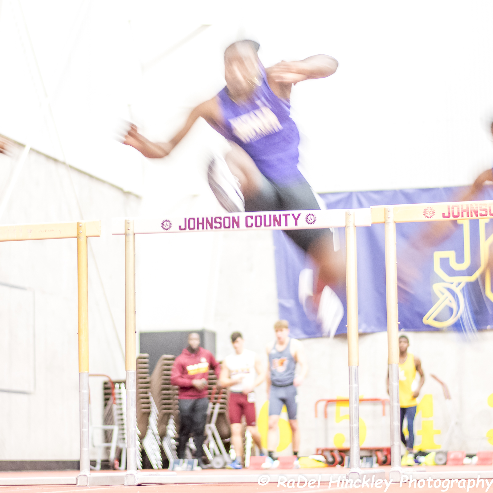 One my first tries at indoor track photography.  I need to make sure my shutter is fast enough so the athlete isn't just a blur…