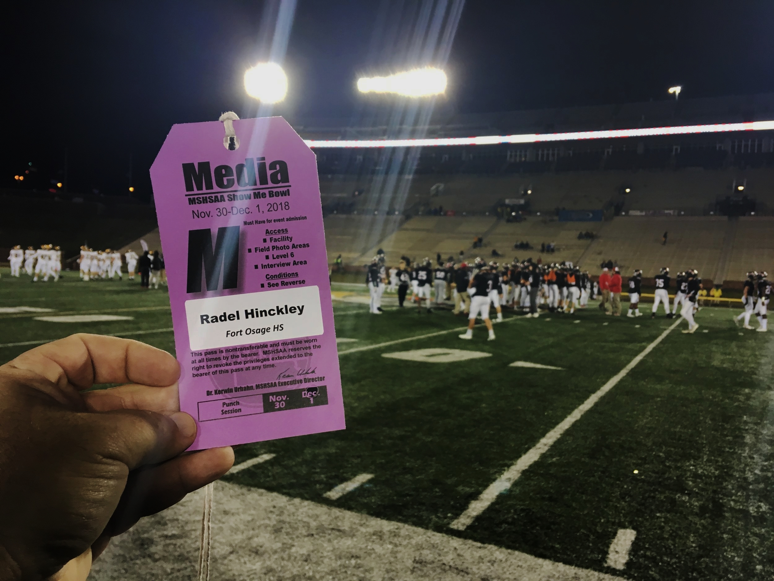 Media Pass (State Championship Game)
