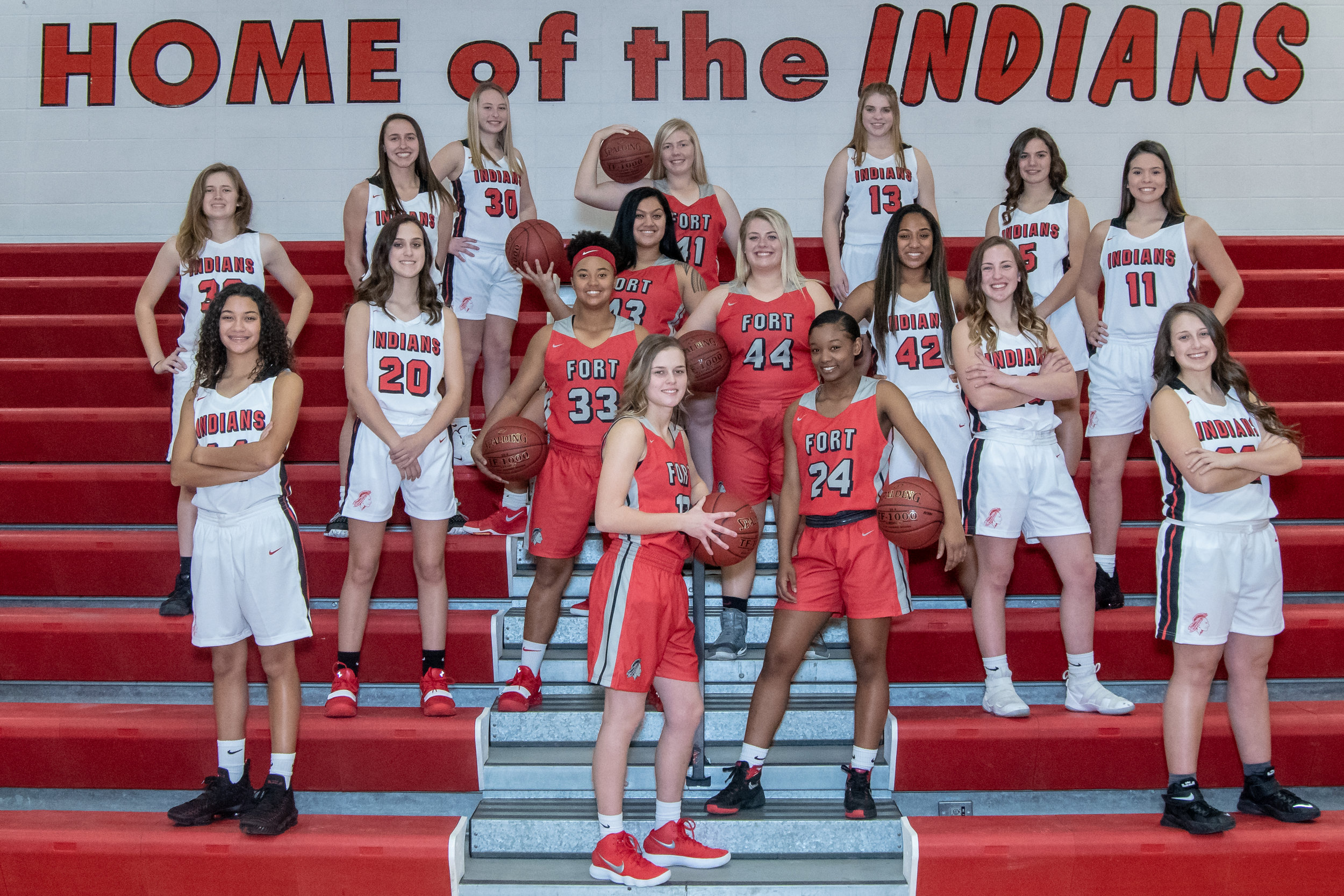Fort Osage Girls Basketball Poster Shoot