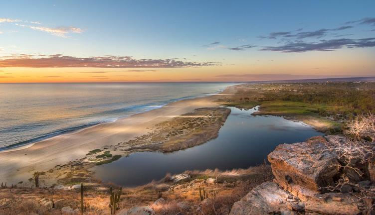 The rugged coast of Todos Santos
