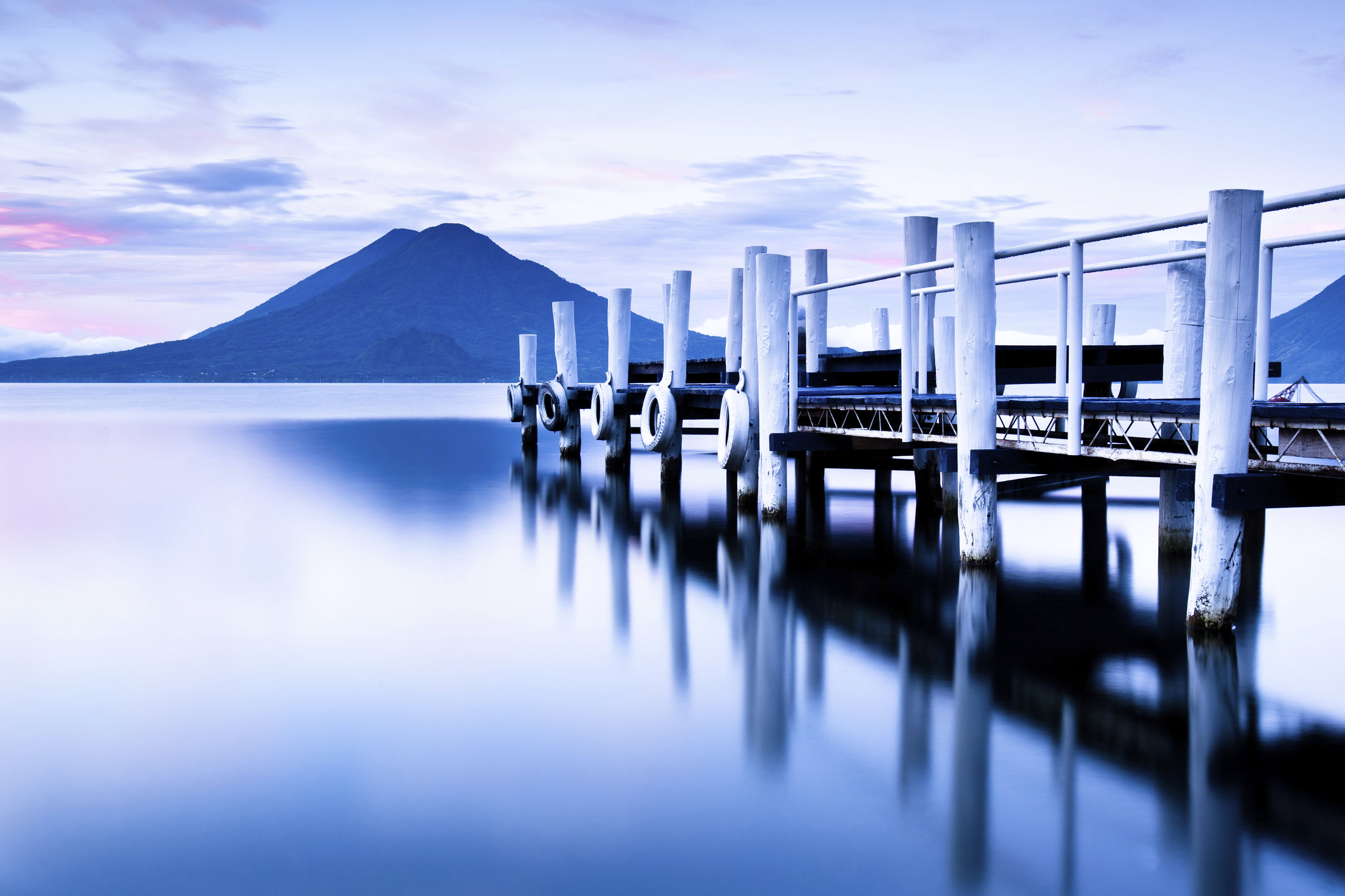 Expansive views of Lake Atitlan and the surrounding volcanoes.   Meals:  B, L 