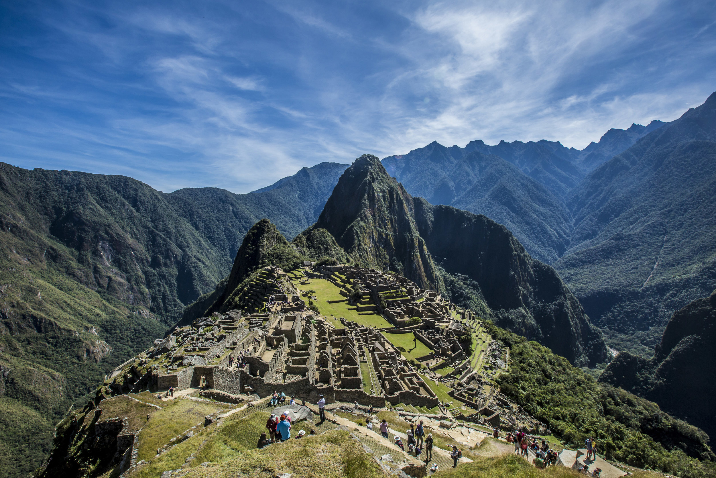 Reaching the Citadel of Machu Picchu will leave us awe inspired.   Meals: B | L | D