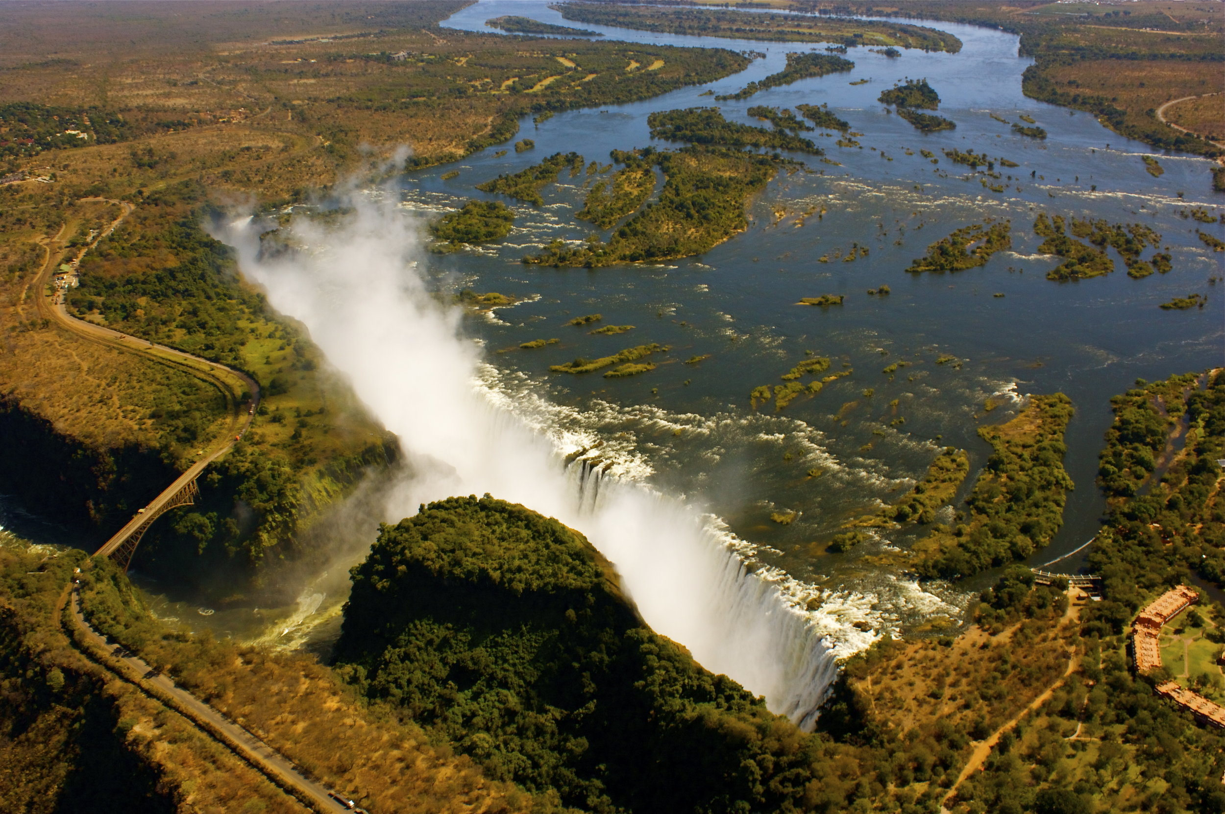 5.Imvelo Safari Lodges - Gorges Lodge - Victoria Falls viewed from the air near Gorges Lodge.jpg
